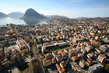Università della Svizzera italiana, panoramic view of Lugano