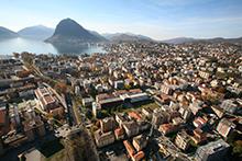 Università della Svizzera italiana, panoramic view of Lugano