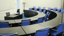 Blue lecture room