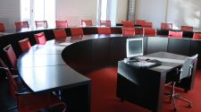 Red lecture room